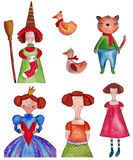 Fairy-tale characters Stock Photos