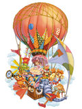Fairy tale characters invite in travel Royalty Free Stock Photo
