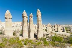 Fairy tale chimneys Stock Photo