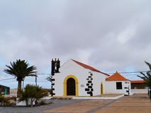 The fairy tale church of Lajares on Fuerteventura Stock Images