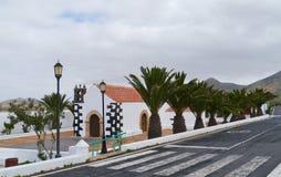 The fairy tale church of Tindaya on Fuerteventura Royalty Free Stock Photo
