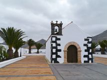 The fairy tale church of Tindaya on Fuerteventura Royalty Free Stock Image