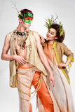 Fairy tale concept. Elven man and girl Royalty Free Stock Photography