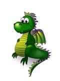 Fairy tale dragon - vector illustration. Stock Image