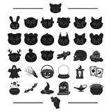 Fairy tale, entertainment and other web icon in black style.beasts, nature, magic icons in set collection. Fairy tale, entertainment and other icon in black royalty free illustration