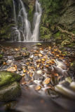 Fairy tale fall. The picturesque Potsforth Gill waterfall in Yorkshie Royalty Free Stock Photography