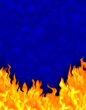 Fairy tale fire background. A background made up of a cartoon painting of fire Stock Photos