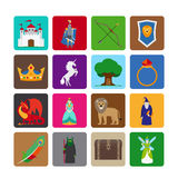 Fairy tale flat icons Stock Photo
