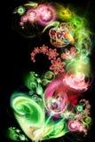 Fairy-tale, flor luminosa ilustração stock