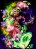 Fairy-tale, flor luminosa ilustração do vetor