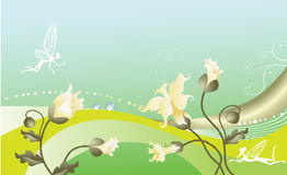 Fairy-tale floral background. Stock Photos