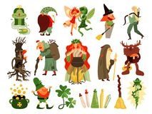 Fairy Tale Forest Characters Set stock illustration