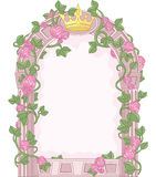 Fairy Tale Frame. Romantic Floral Fairy Tale Frame Stock Images