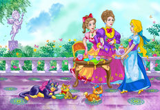 Fairy tale heroines Stock Images