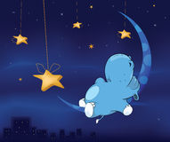 Fairy tale about hippo cartoon Stock Photo