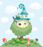 Fairy tale house. Vector illustration Royalty Free Stock Photography