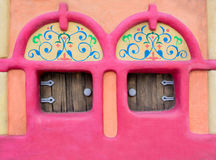 Fairy-tale house facade. With small windows Stock Photo