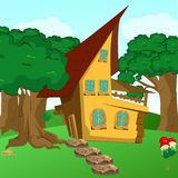 fairy-tale house among trees royalty free illustration