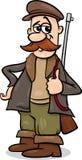 Fairy tale hunter cartoon illustration Stock Photography
