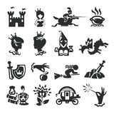 Fairy tale icons. Authors illustration in vector Royalty Free Stock Images