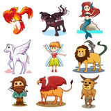 Fairy tale icons Stock Image