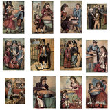 Fairy Tale Illustrations. Color illustrations of children's books and fairy tales, scanned from old books Stock Photography