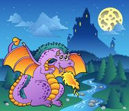 Fairy tale image with dragon 3 Royalty Free Stock Image