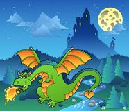 Fairy tale image with dragon 4 Royalty Free Stock Images