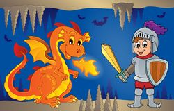 Fairy tale image with dragon 6. Eps10 vector illustration Royalty Free Stock Images