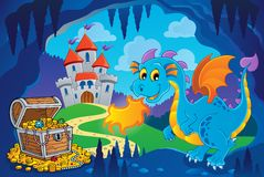 Fairy tale image with dragon 8 Stock Image