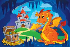 Fairy tale image with dragon 7. Eps10 vector illustration Royalty Free Stock Photography
