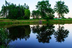 Fairy-tale lake in the forest. Background. Nature Stock Photography
