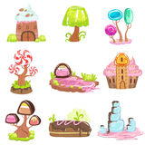 Fairy-tale Landscape Elements Made Of Sweets And Pastry Royalty Free Stock Photo