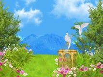 Fairy tale lawn Stock Image