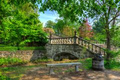 Fairy-tale like bridge Stock Images