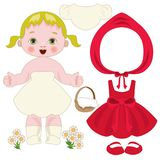 The fairy tale of little red riding hood like a paper doll Royalty Free Stock Photos