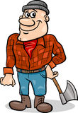 Fairy tale lumberjack cartoon illustration Stock Images