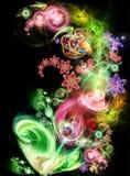 Fairy-tale, luminous flower Stock Images