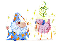 Fairy tale magician. Royalty Free Stock Photo