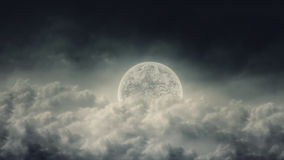 Fairy Tale Moon Night Cloudy Sky. Abstract Illustration Royalty Free Stock Photo