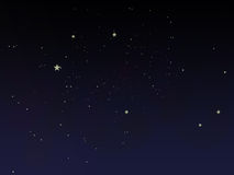 Fairy tale night sky. A fairy tale night sky royalty free illustration