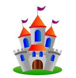 Fairy-tale palace on a white background Royalty Free Stock Images
