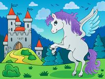 Fairy tale pegasus theme image 3 Royalty Free Stock Image