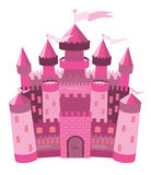 Fairy Tale pink magic castle Stock Image