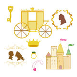Fairy tale. About  prince and princess Royalty Free Stock Images