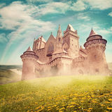 Fairy tale princess castle royalty free stock photo