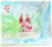 Fairy Tale Princess Castle Royalty Free Stock Image