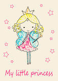 Fairy Tale Princess greeting card Royalty Free Stock Photography
