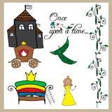 Fairy tale Princess and the pea Stock Photos