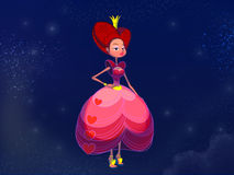 Fairy tale princess in pink dress. Royalty Free Stock Photography